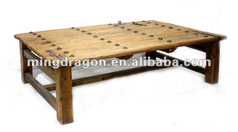 Chinois antique naturel en bois table basse table basse id - Table basse en bois naturel ...