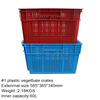 plastic crate for fruit and vegetables