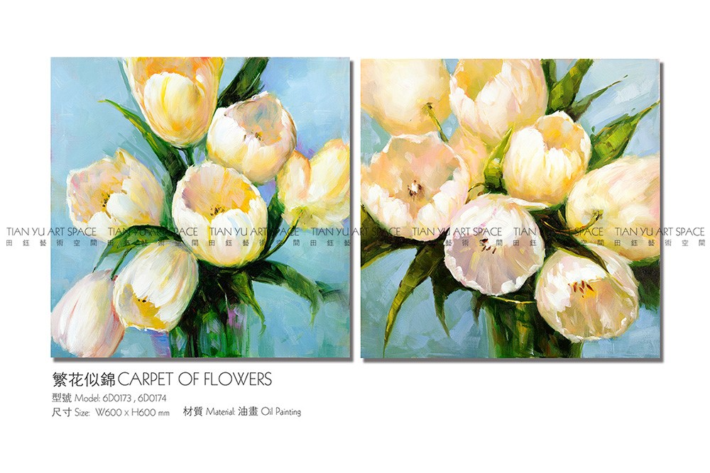 Professional design canvas picture home decor painting modern flower oil painting