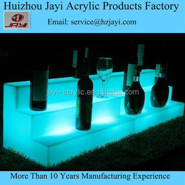 Ali made in China bar clear acrylic lighted led wine display led counter display led bottle display