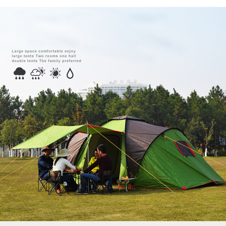 Custom Outdoor Waterproof Large Family Camping Tent for 4-6 People