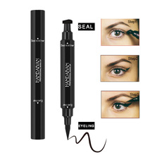 HANDAIYAN Noir Eyeliner Liquide <span class=keywords><strong>Crayon</strong></span> & Timbre D'eye-Liner Longue durée Oeil de Chat Nouvelle Aile Style Crayons <span class=keywords><strong>Yeux</strong></span> Maquillage Eye-Liner timbres