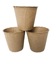 biodegradable transplanter pulp paper flower plant peat pots tray planting pots for seedling