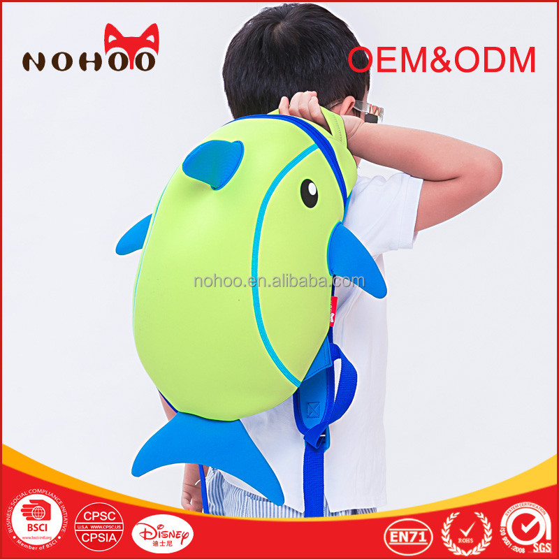 Trendy kindergarten baby neoprene kids backpack , different models school bags Guangzhou
