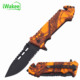 Stainless steel half saw blade Plastic Handle Flip Pocket Knife Utility Cutter Camping Survival Knife