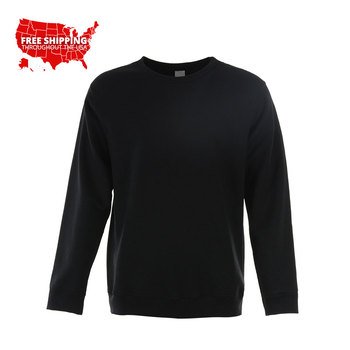 High quality new design premium fashion streetwear unisex crew neck plain sweatshirt custom