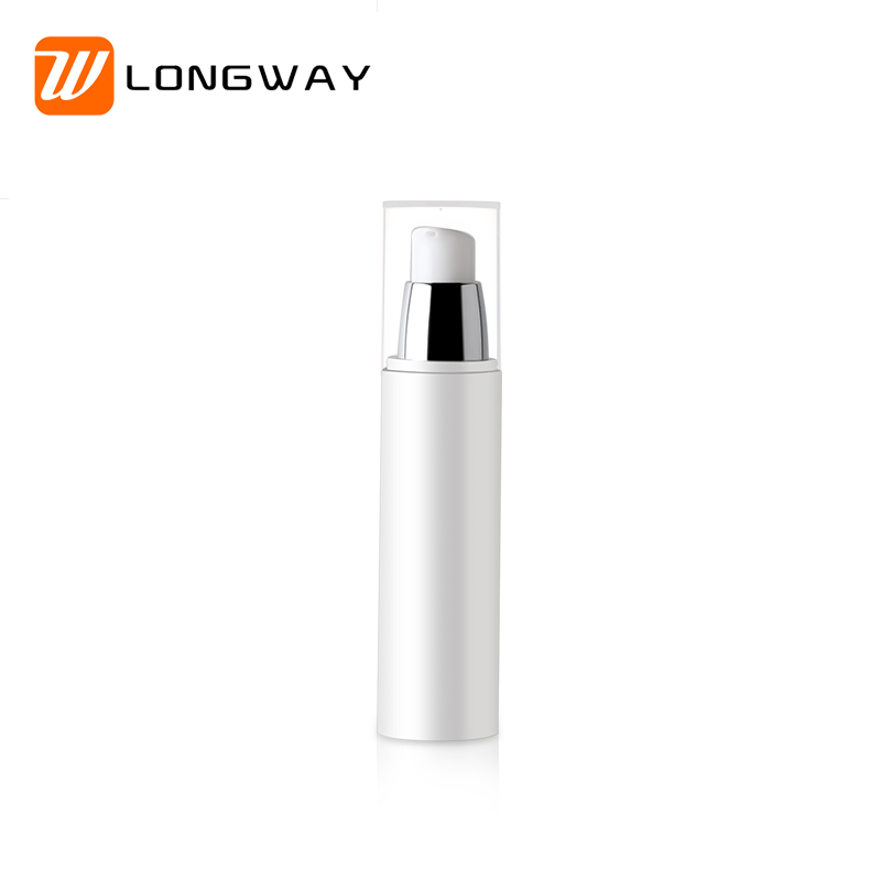 Thick wall Syringe Shaped aluminum airless pp pump <strong>bottle</strong> 50ml with screen printing