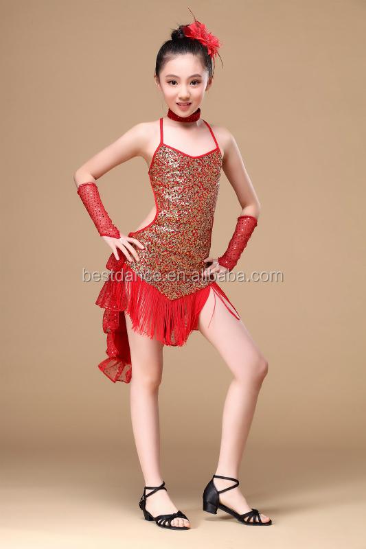 Bestdance nouveaux enfants filles latine salsa robe de - Danse de salon enfant ...