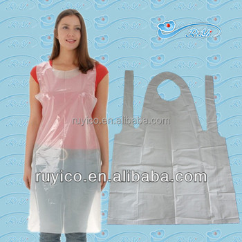 Disposable Hdpe Apron / Polyethylene Apron In Roll