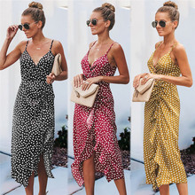 Frauen Sommer Polka Dot Kleid Amazon Explosion Sleeveless Liebsten Sling Smoking Rock Kleid