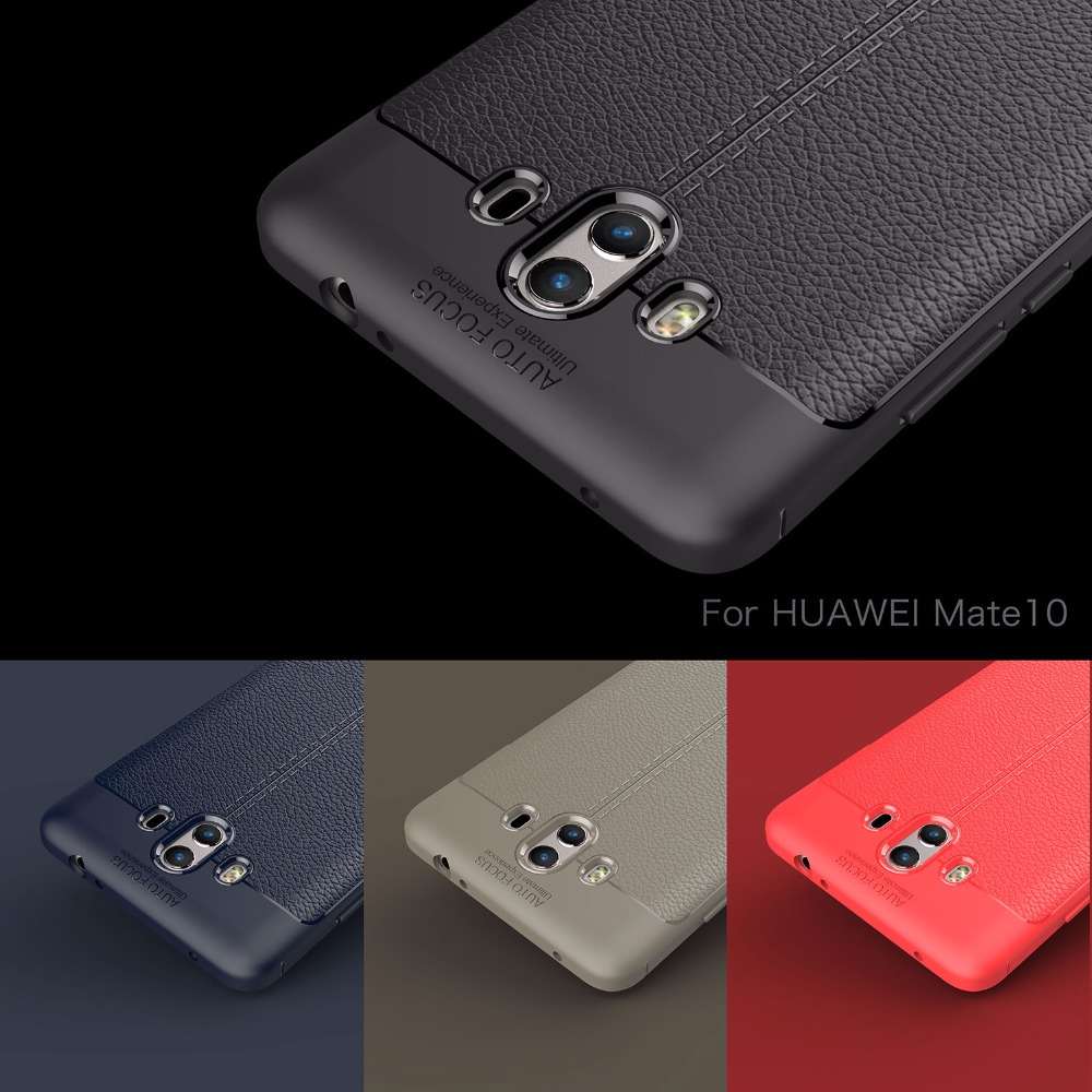 2017 New Design Carbon Fiber Lichee Pattern For Huawei Mate 10 PRO Soft TPU Case For Huawei Mate 10