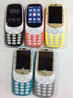 2.4 inch curve display 3310 phone GSM Gprs Quad Band Dual Sim Card cell phone unlocked