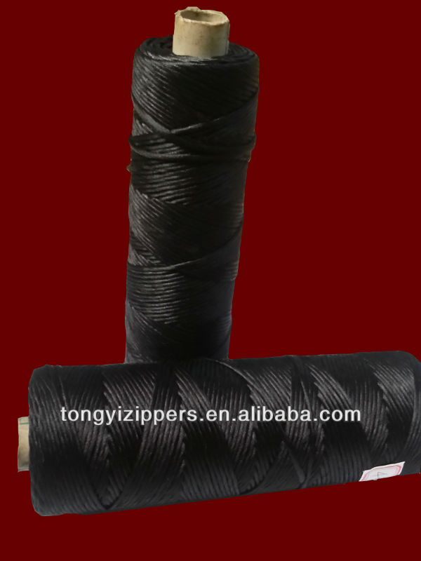 polyester yarn white and black in nylon zipper cord