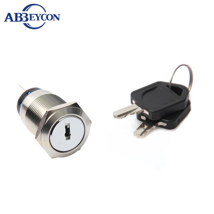 f48d3dd13 J313 19mm 250 V Aço Inoxidável 1NO1NC Latching 2 Posição Duplo Removido  IP67 Interruptor de Chave