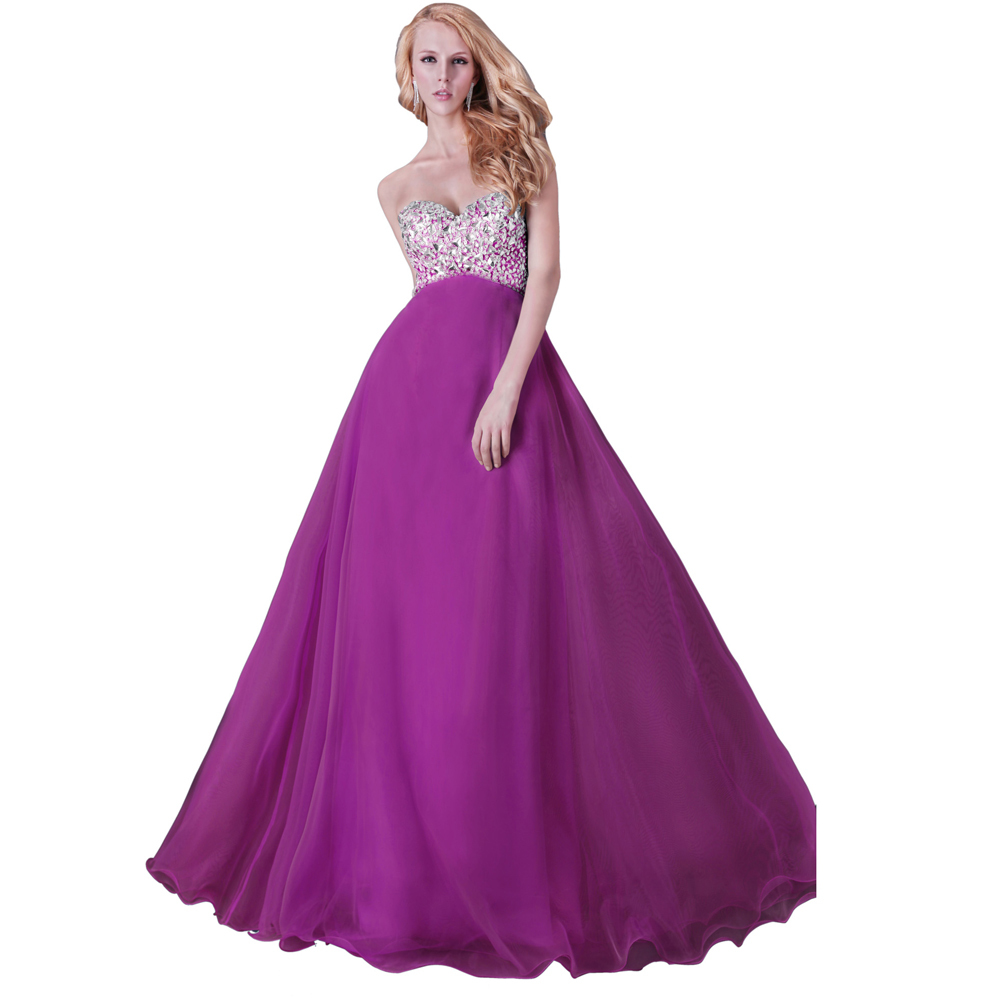 Hot Sell Grace Karin Purple Long Prom Dresses 2015 Slim Beaded Prom Evening Party Dress Vestidos De Festa CL3107-4