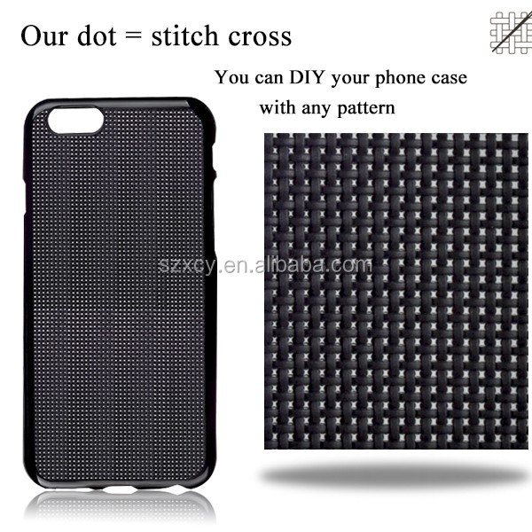 perfect decoration custom DIY cross stitch phone case for <strong>iphone</strong> 6 6s Plus 5.5inch