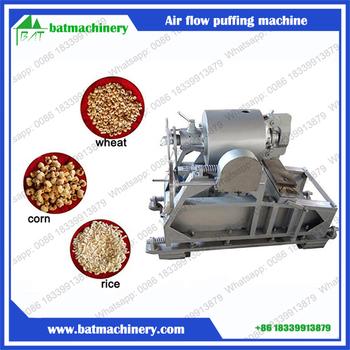 Air Flow Grain Cereal Puffing Machine Rice Corn Wheat