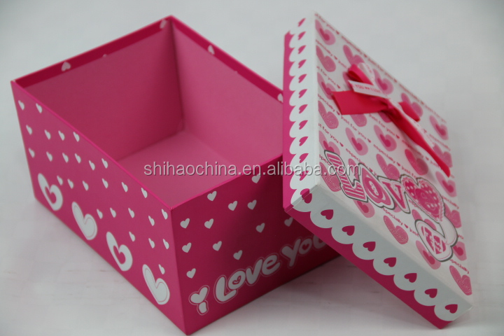 3367 shihao unique small craft creative pink sweets box design candy box