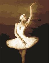 Kız Bale Tuval Resminin Tanıtım Promosyon Kız Bale Tuval Resminin
