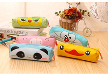 Cute cartoon  high quality PU large capacity pen bag pencil bag  creative school supplies pencil case new coming freeshiping