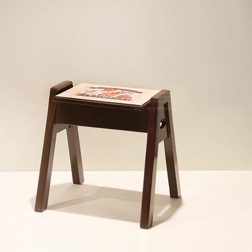 LQQGXL European chair European stool wood fashion creative wooden stool (Color : E)
