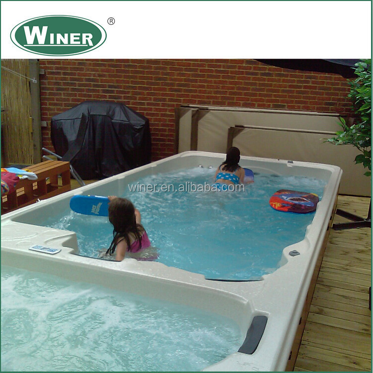 luxury portable swim spa pool amc 5860 with ce approval. Black Bedroom Furniture Sets. Home Design Ideas