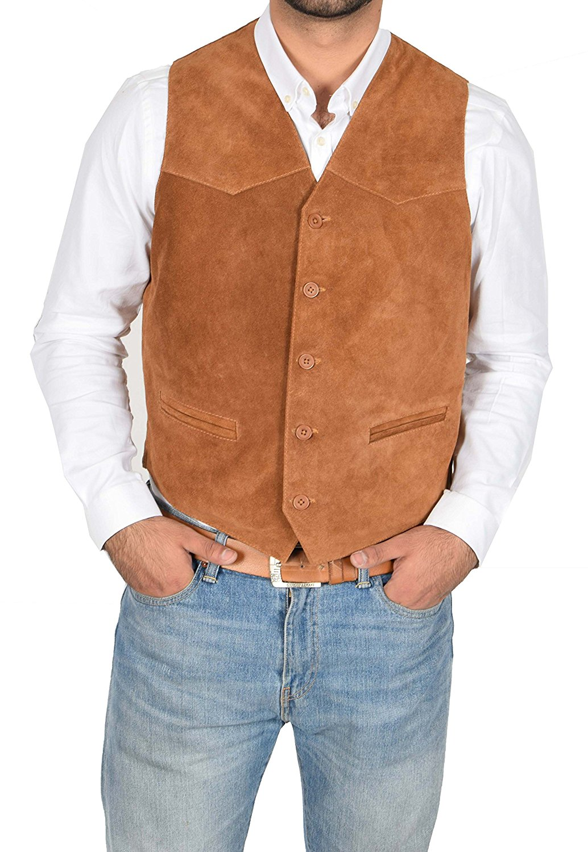 coolhides Mens Fashion Suede Leather Jacket