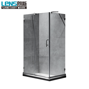 United States fashionable clean glass bath shower room corner rectangle frameless bath shower room