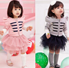 958 2015 wholesale fashion hot sale new spring autumn south korea long sleeve coat+tutu skirt baby girls dress set 2 colors