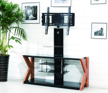 TV-K living room furniture high quality adjustable black wooden design lcd TV stand