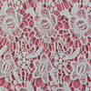 Good price beautiful embroidery chemical /water soluble milk fiber crochet lace fabric