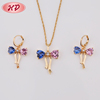 New Style Bow Brazilian Wholesale 18K Crystal Jewelry Set For Women