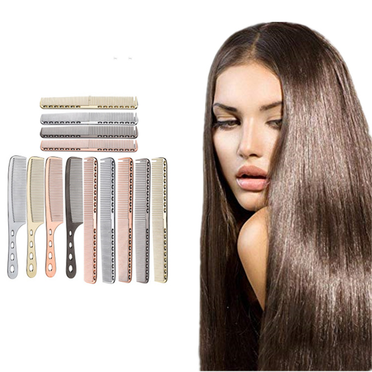 Professional <strong>Hair</strong> <strong>Comb</strong> Ultra-thin Anti-Static B Salon <strong>Hair</strong> Styling Hairdressing Barbers Brush Stainless <strong>Steel</strong> <strong>hair</strong> <strong>comb</strong>