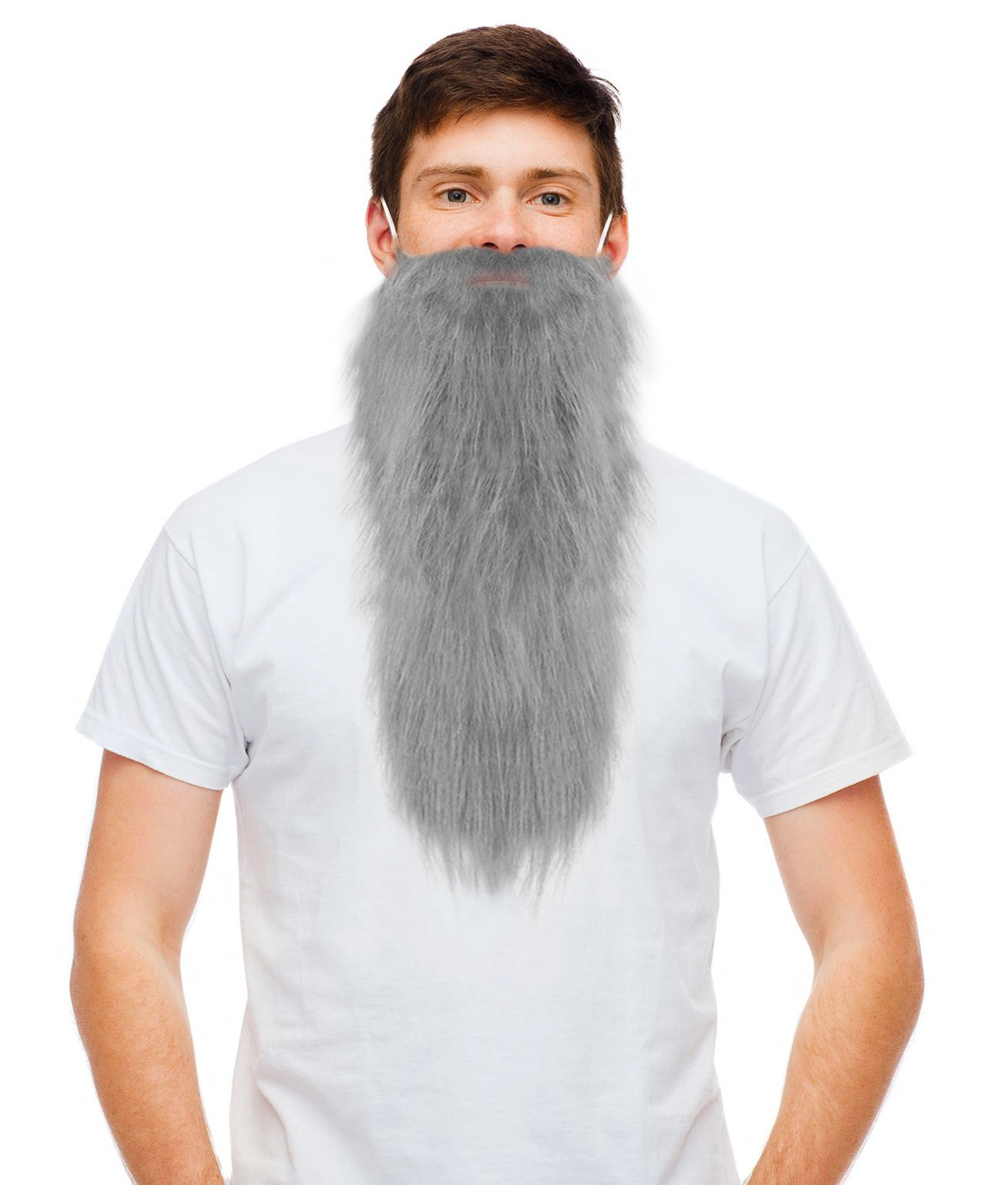 713189fd5d5 Get Quotations · Costume Adventure Grey Hillbilly Fake Dwarf Beard - One  Size Fits All