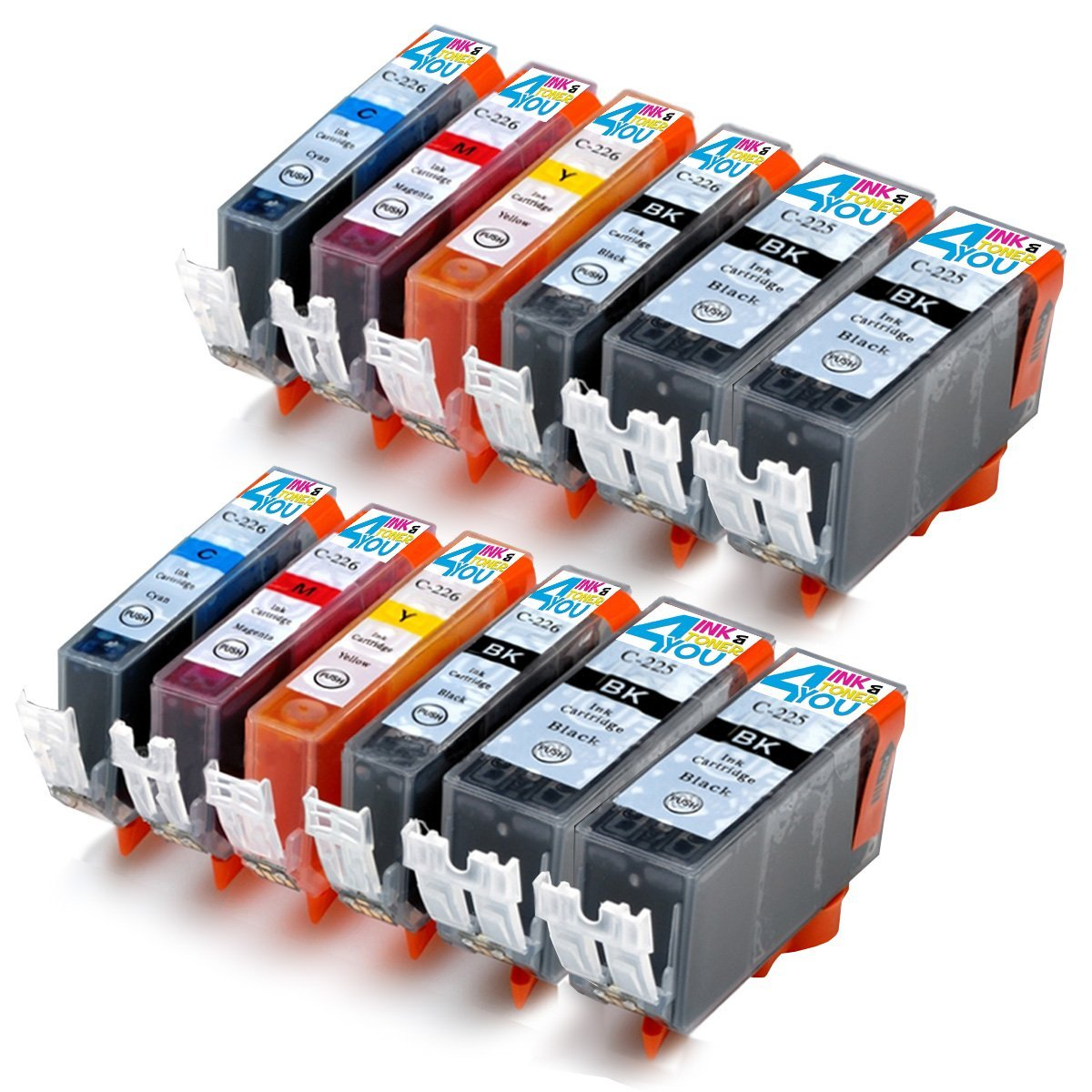 5PK New EDIBLE Ink inkjet for Canon PGI-225 CLI-226 Pixma MG5220 MG5320 MG6120