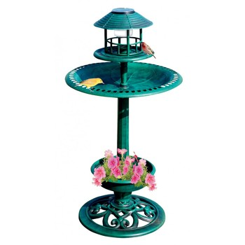 4 in 1 plastic garden bird bath with feeder and solar for A bathroom item that starts with n