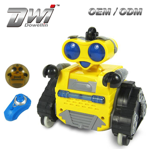 DWI Dowellin Funny Mini Ball Robot 3 Colors Mixed Radio Control Stunt Robot With Lights