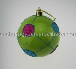 8cm fantastic apple green christmas ball with glitter