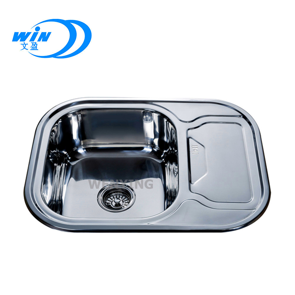 Wy 6349 Small Deep Bowl Sink With 200mm Depth Low Cost Molock Rectangle Kitchen Single Sinks One Drainer Stainless Steel