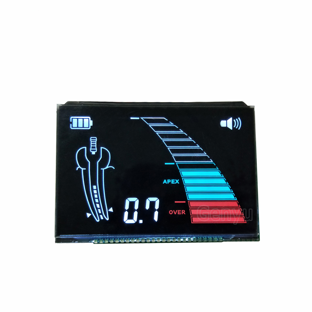 China VA LCD Medical Equipment lcd Module Black Background White Backlight Color Screen Customized 7 Segment Display lcd