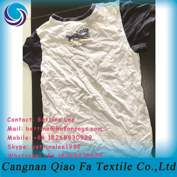 Cleaning Ships And Boats White Cotton T Shirt Cutting Rags