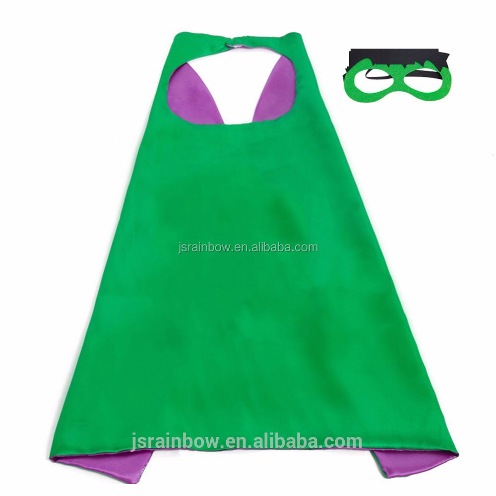 Satijn halloween kostuum Dubbellaags Superhero super hero capes voor kids