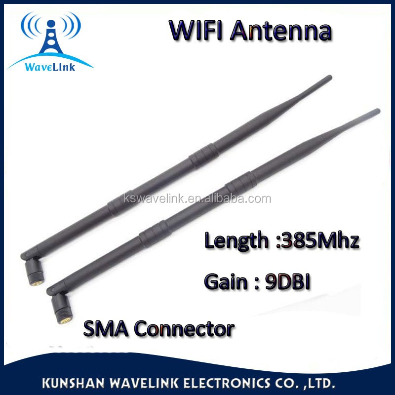Factory Price 9DBI 2.4Ghz Indoor Omni Antenna Dipole 2.4Ghz RF Antena Rp- SMA Connector