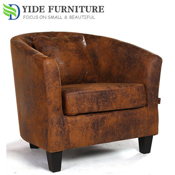Leather Salon Furniture Waiting Bedroom Sofa Tub Chair - Buy Salon ...