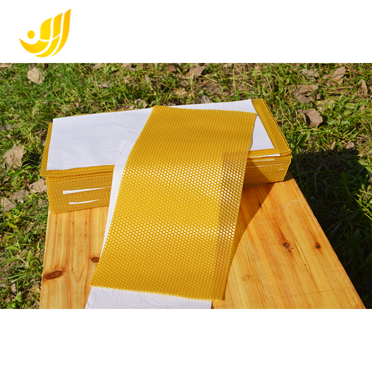 Beeswax foundation sheet mold.