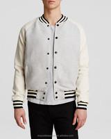 2016 high qulaity contrast sleeves button down jacket designer mens clothing custom unisex baseball jacket