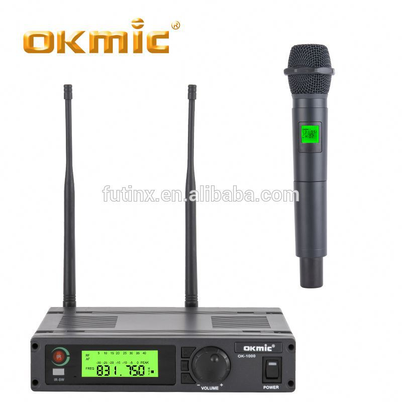 2017 vhf professional wireless microphone system handheld wireless bluetooth