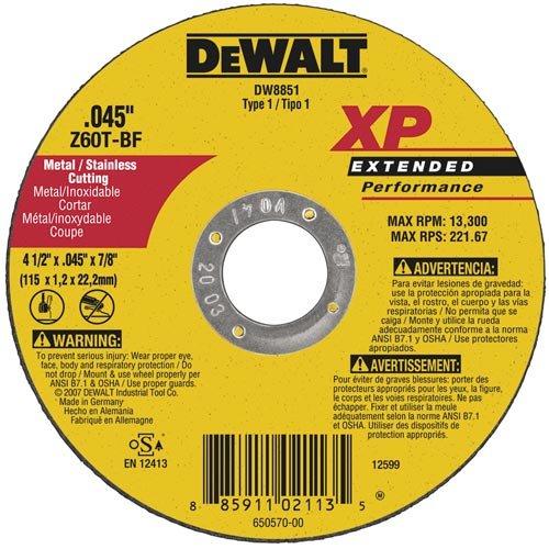 DEWALT DW8427H Metal Cutting Wheel 7-Inch by 0.045-Inch 5//8-11 Arbor