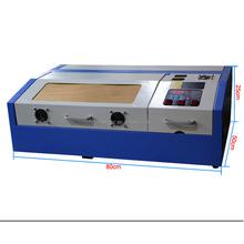 HT laser 40w mini desktop cnc laser rubber stamp engraving cutting machine