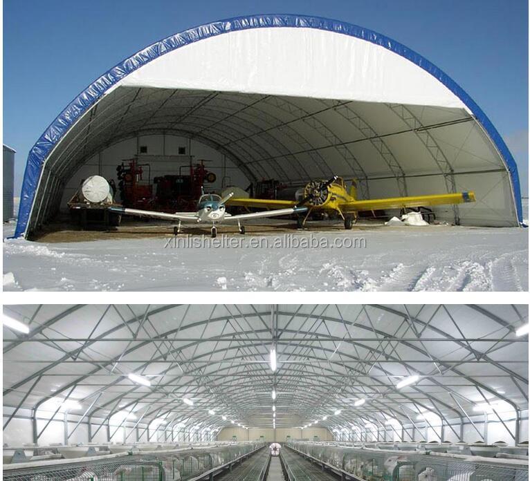 Uv r sistant l 39 usure forte tanche tente hangar d 39 avion for Aircraft hanger designs